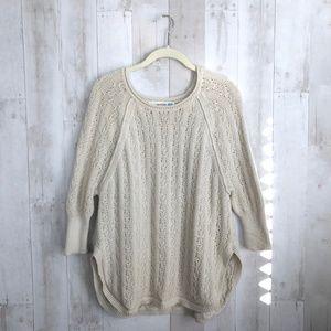 [Anthropologie] Curved Hem Dolman Sleeve Sweater